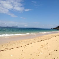 Photo taken at Oodomari Beach by ryu i. on 10/6/2012