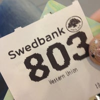 Photo taken at Swedbank by Neli on 8/14/2013