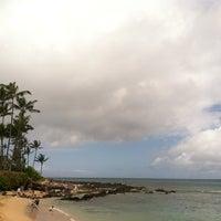 Photo taken at Napili Beach by Felipe V. on 6/12/2013