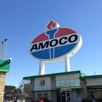 Photo taken at World's Largest Amoco Sign by J. C. S. on 2/24/2013