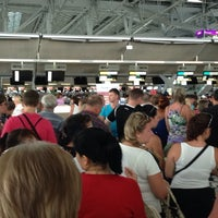 """Photo taken at Check-In Row """"W"""" by Galyna M. on 4/17/2014"""