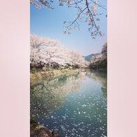 Photo taken at 鹿野城跡公園 by Tadashi I. on 4/9/2014