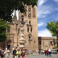 Photo taken at Virgen de los Reyes Square by Kakhi K. on 5/27/2014