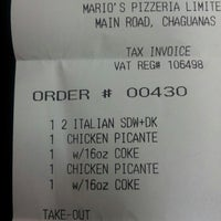 Photo taken at Mario's Pizza, Chaguanas - Main Rd. by Alex R. on 10/1/2013