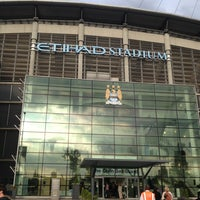 Photo taken at Etihad Stadium by Stephen M. on 6/21/2013