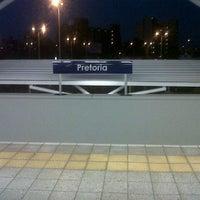 Photo taken at Gautrain Pretoria Station by Simon M. on 4/14/2013