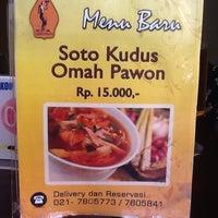 Photo taken at Soto Kudus Omah Pawon by Ana M. on 4/9/2013