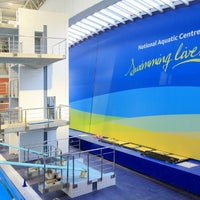 Photo taken at National Aquatic Centre by Brian W. on 1/19/2014