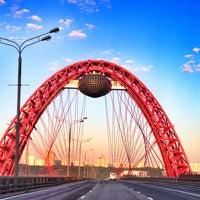 Photo taken at Zhivopisny Bridge by Натали З. on 6/3/2013