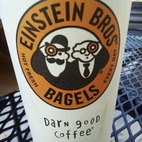 Photo taken at Einstein Bros Bagels by Rich L. on 2/20/2012
