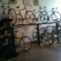 Photo taken at Oak Cliff Bicycle Company by Megan E. on 5/6/2012