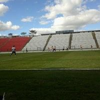 Photo taken at Estádio Joaquim Henrique Nogueira (Arena do Jacaré) by Raphael C. on 8/4/2012