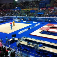 Photo taken at Complejo Nissan de Gimnasia by Paola V. on 10/17/2011
