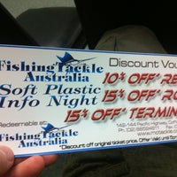 Photo taken at Fishing Tackle Australia by Don C. on 6/7/2012