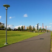 Photo taken at Railroad Park by Christian S. on 8/16/2011