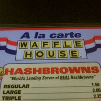 Photo taken at Waffle House by D J. on 1/1/2012