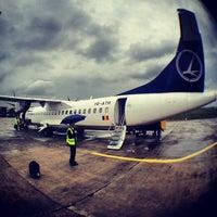 "Photo taken at Cluj-Napoca ""Avram Iancu"" International Airport (CLJ) by Valentin-Narcis S. on 5/27/2012"
