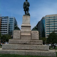 Photo taken at Farragut Square by Miorel P. on 9/1/2011