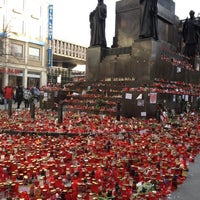 Photo taken at Saint Wenceslas statue by Martin T. on 12/29/2011