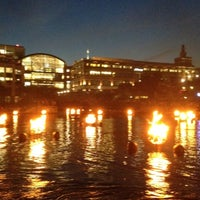Photo taken at WaterFire Providence - Waterplace Park by Evan M. on 6/10/2012