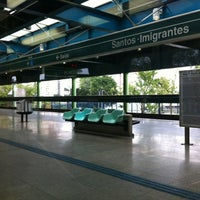 Photo taken at Estação Santos-Imigrantes (Metrô) by André F. on 6/7/2012