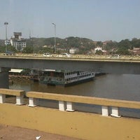 Photo taken at Mandovi Bridge by Anup B. on 4/24/2012