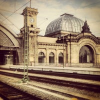 Photo taken at Dresden Hauptbahnhof by Filip C. on 8/9/2012