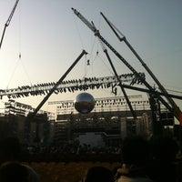 Photo taken at Shahaji Raje Krida Sankul (Andheri Sports Complex) by Dharm V. on 4/21/2012