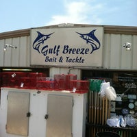Photo taken at Gulf Breeze Bait And Tackle by tara jane d. on 7/1/2012