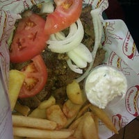 Photo taken at Johnny's Hot Dogs and Gyros by Todor K. on 5/1/2012