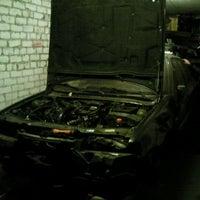 Photo taken at Daudzstavu garazas Lubana by Svetlana K. on 1/16/2012