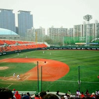 Photo taken at Mokdong Baseball Stadium by Min Hyuk K. on 4/17/2011