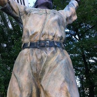 Photo taken at Jackie Robinson Statue by Stranger D. on 8/24/2011