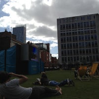 Photo taken at Spinningfields Square by Fernando A. on 9/5/2012