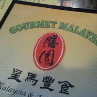 Photo taken at Gourmet Malaysia 膳園 by Chris on 2/20/2012