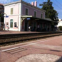 Photo taken at Gare SNCF de Nice Saint-Augustin by Christophe P. on 8/24/2012