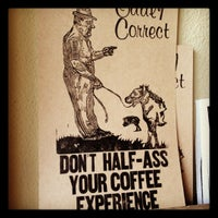 Photo taken at Oddly Correct Coffee Bar by Bryan A. on 4/4/2012