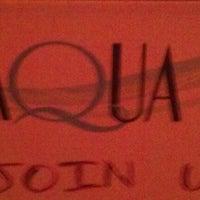 Photo taken at Aqua Restaurant & Bar by Nick C. on 5/1/2012