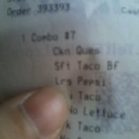 Photo taken at Taco Bell by Alice I. on 3/30/2012