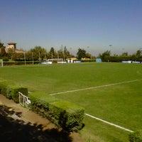 Photo taken at Canchas de entrenamiento del Estadio San Carlos de Apoquindo. by Marcelo V. on 3/22/2012