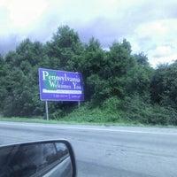 Photo taken at Delaware / Pennsylvania State Border by Carolina Z. on 7/20/2012
