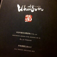 Photo taken at What8ver Cafe by April S. on 7/22/2012