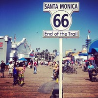 """Photo taken at Santa Monica Route 66 """"End of the Trail"""" by Federico N. on 9/7/2012"""
