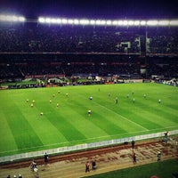 "Photo taken at Estadio Antonio Vespucio Liberti ""Monumental"" (Club Atlético River Plate) by Andrés A. on 6/3/2012"