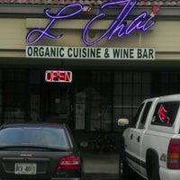Photo taken at L'Thai Organic Cuisine & Wine Bar by Grady P. on 7/31/2012