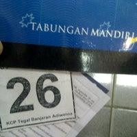 Photo taken at Bank Mandiri KCP Adiwerna by Biie on 7/27/2012