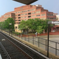 Photo taken at Braddock Road Metro Station by Kyle S. on 7/15/2012