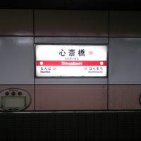 Photo taken at Midosuji Line Shinsaibashi Station (M19) by (3‐ タ. on 3/12/2013