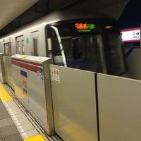 Photo taken at Oedo Line Higashi-nakano Station (E31) by yoshi_rin on 1/4/2016