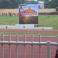 Photo taken at GOR Pulogadung (Rawamangun) by Riszki F. on 5/15/2014
